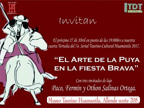 Invitan a charla con picadores en Huamantla