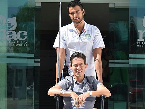 Diego Silveti recibe el alta médica