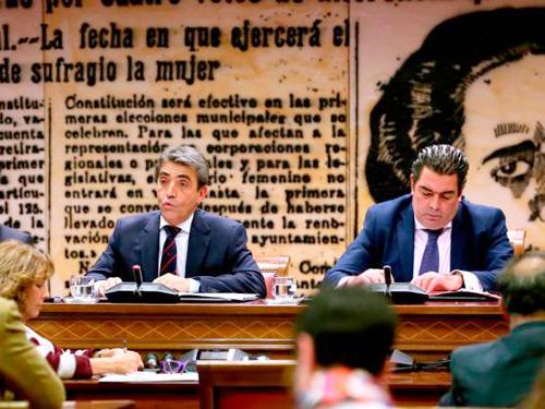 Victorino visita el senado español