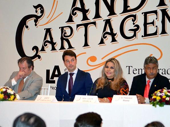 Andy Cartagena se presenta ante los medios
