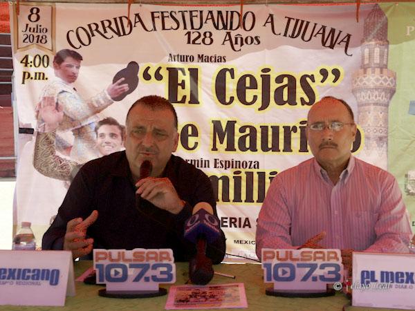 Presentan corrida para el 8 de julio en Tijuana