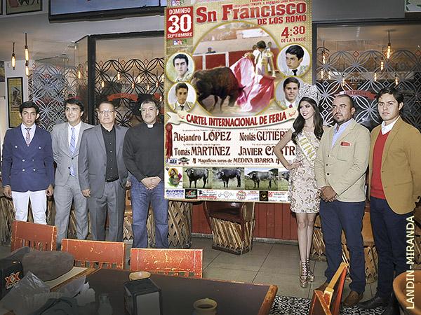 Cartel joven en la feria de San Pancho