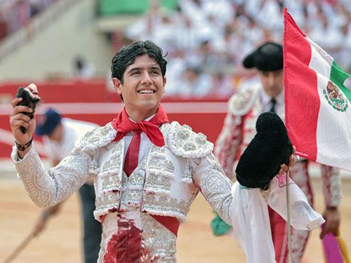 Luis David corta una oreja en Pamplona