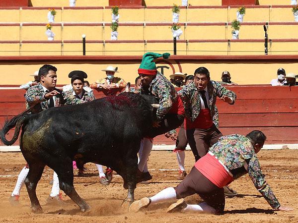Los forcados se llevan la tarde en Tlaxcala