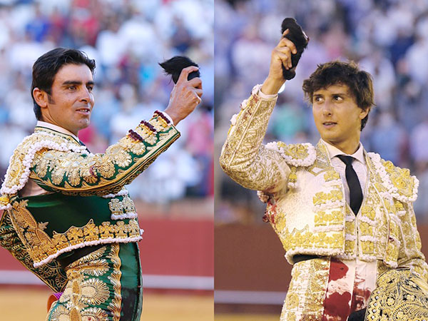 Perera y Roca Rey cortan oreja en Sevilla