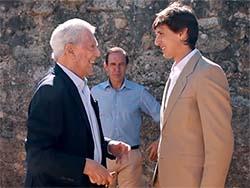 Vargas Llosa y Roca Rey, unidos por la cultura